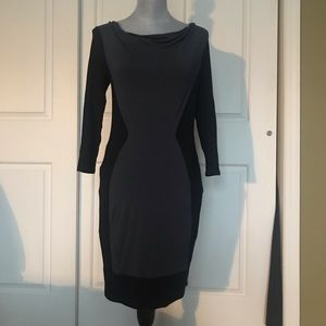 Three dots fitted cotton dress